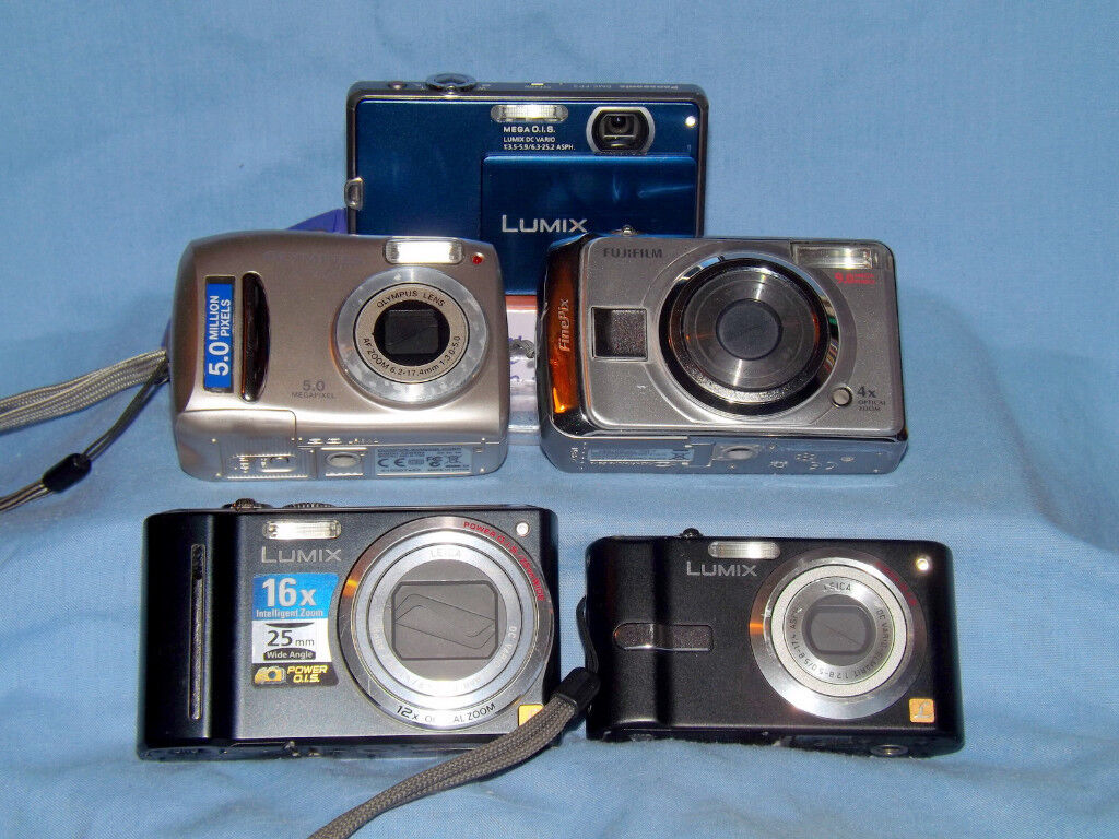 COMPACT DIGITAL CAMERAS COLLECTION - REPAIR OR SPARES