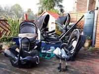 Double buggy / pushchair with all the extras