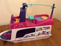 V tech flipsies bundle including boat and accessories, trampoline/classroom, figures and clothes £30