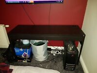 BLACK COMPUTER DESK WITH TWO DRAWERS *FREE* PICK UP ONLY