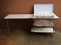 Retro camping folding kitchen set