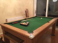 Pool Dining slate bed pool table