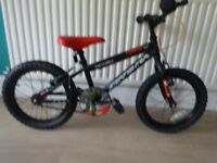 """GREAT BOYS BIKE """"APOLLO STARFIGHTER"""" 16"""" WHEELS.FULLY WORKING,GREAT CONDITION,READY TO RIDE."""