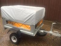 Erde 122 tipping trailer + extension kit/spare wheel/jockey wheel