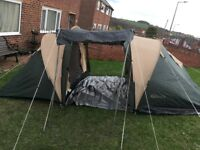 Pro Action 4 Man family tent. 2000 head. All Kit