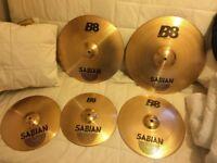 Sabian b8 drum cymbal set