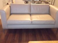 2 large 2 seater italian leather sofas. average condition, collection from Basingstoke