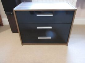 Sywell chest of drawers walnut and black NEW