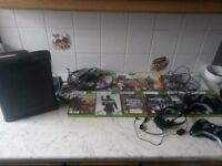 xbox 360 and games 120gb 2 controllers ( see listing ) plus games