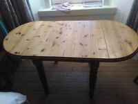 Wooden dining room table - extendable