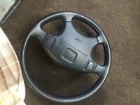 honda civic ek3 ej9 ek4 vti oem steering wheel with air bag 96-00