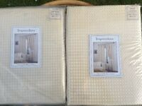 2x cream lined curtains 168x 182cm Brand New