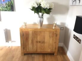 Oak Furniture Land Mantis Light Solid Mango Small Sideboard