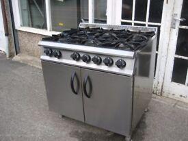 Catering cooker 6 burner gas refurbished Moorwood Vulcon.