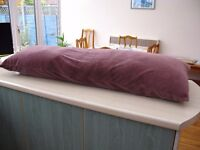 Large Body Pillow with removable cover.