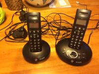 BT 2500 Graphite Phone/Answer with additional phone