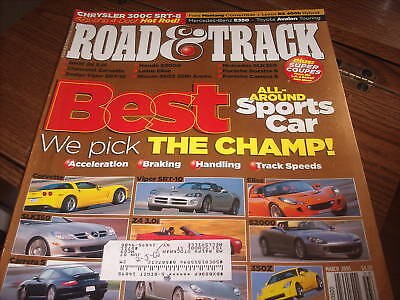 Road & Track March 2005 Best All-Around Sports