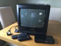 PANASONIC TV and FREEVIEW BOX