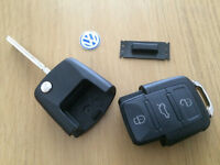 VW-SEAT-SKODA 1J0 959 753 DA/1J0 959 753 AH 3 BUTTON REMOTE KEY CUT & PROGRAMMED