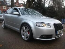 AUDI A3 3.2 V6 Quattro S line 5dr DSG BEAST TO REVEAL TINTED WINDOWS LEATHER INTERI (silver) 2006