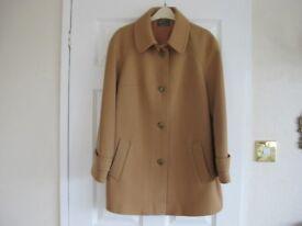 Ladies Alexon camel coat size 16