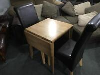🎅 FREE DELIVERY AS NEW TABLE AND 2 LEATHER CHAIRS