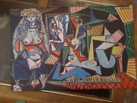 Picasso print on Wrapped Canvas