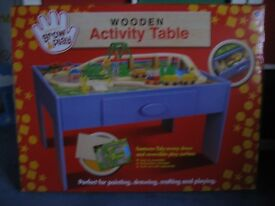 Children's Wooden Activity Table for Age 3+