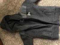 Fleece zipped hoodie