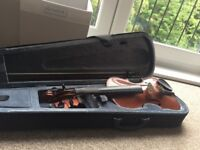Solid Maple Violin with soft case