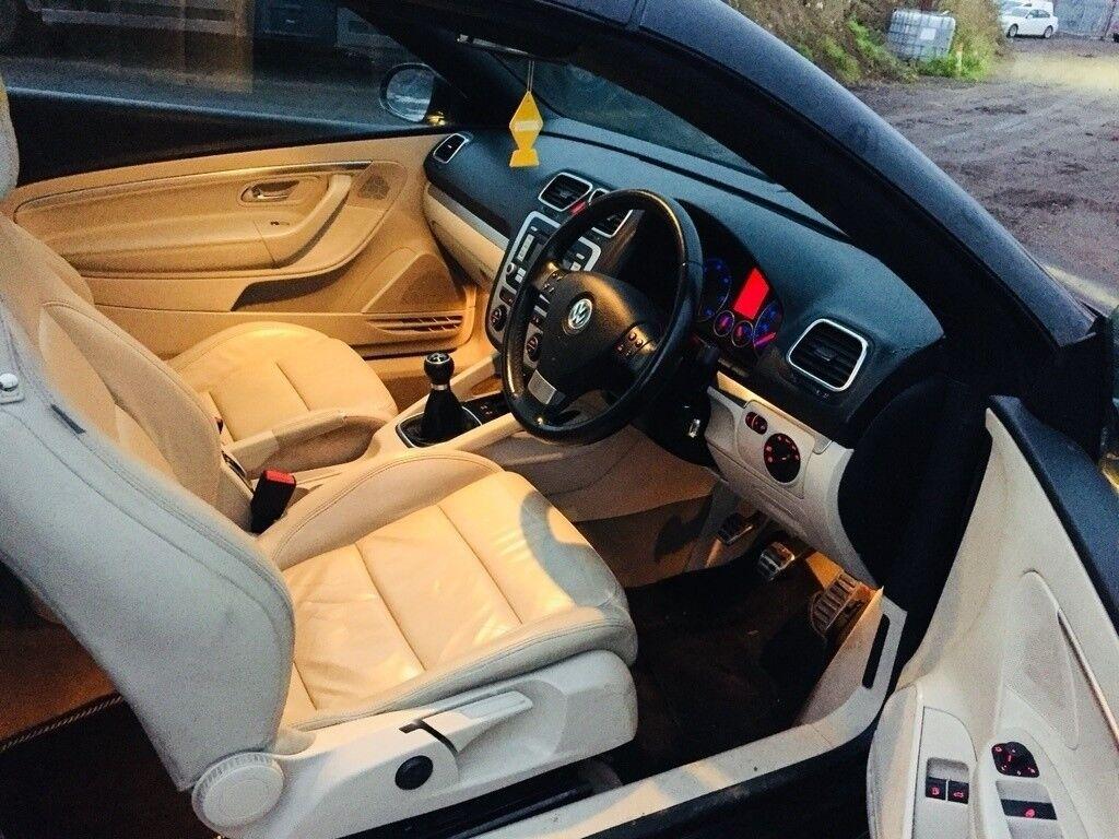 2008 Volkswagen EOS DIESEL HTS SEATSConvertibleFVSHLow Profile