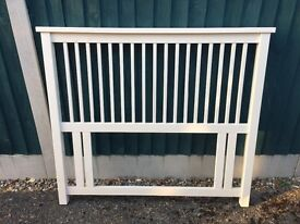 Cream wooden 4ft (small double) bedhead