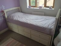 Lovely single bed with trundle and drawers