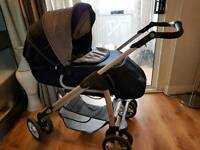 Silver cross freeway liner pram with extras