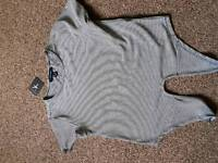 Ladies tie belly top size 8 new with tags