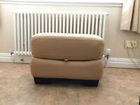 Caramel coloured Foot stool with storage space