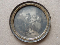 A Vintage Print in an Antique frame titled 'The Visit returned In The Country' 1789