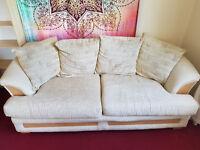 3 seater cream sofa for sale