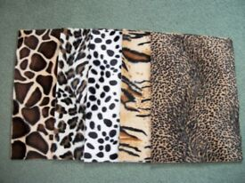 5 full Sheets of Animal print Card 200gsm,size A4