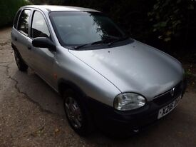 VAUXHALL CORSA ENVOY 973cc 5 DOOR HATCHBACK IN SILVER ,IDEAL FIRST CAR
