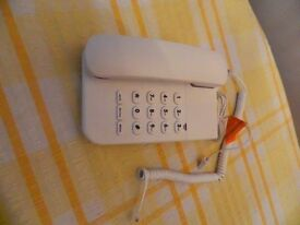 White corded phone