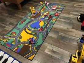 Road carpet play mat
