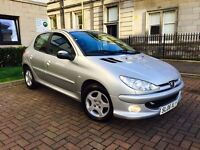 PEUGEOT 206 1.4 VERVE 2006 ONLY 43000 MILES IMMACULATE CONDITION LONG MOT AND SERVICE HISTORY