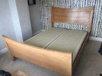King size bed frame! Solid oak!