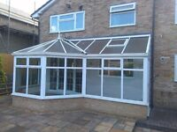 White UPVC Conservatory with Motorised Roof Vents, Bicester Oxfordshire
