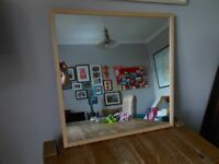 Wooden Framed IKEA Mirror