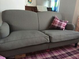 Great condition sofa from Robert Langford in Chelsea grey, feather cushions