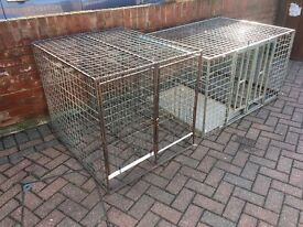 2 Galvanised dog cages