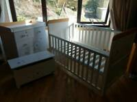 cot bed / toddler bed, changer,toy box