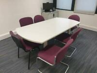 Office meeting table and chairs available £150